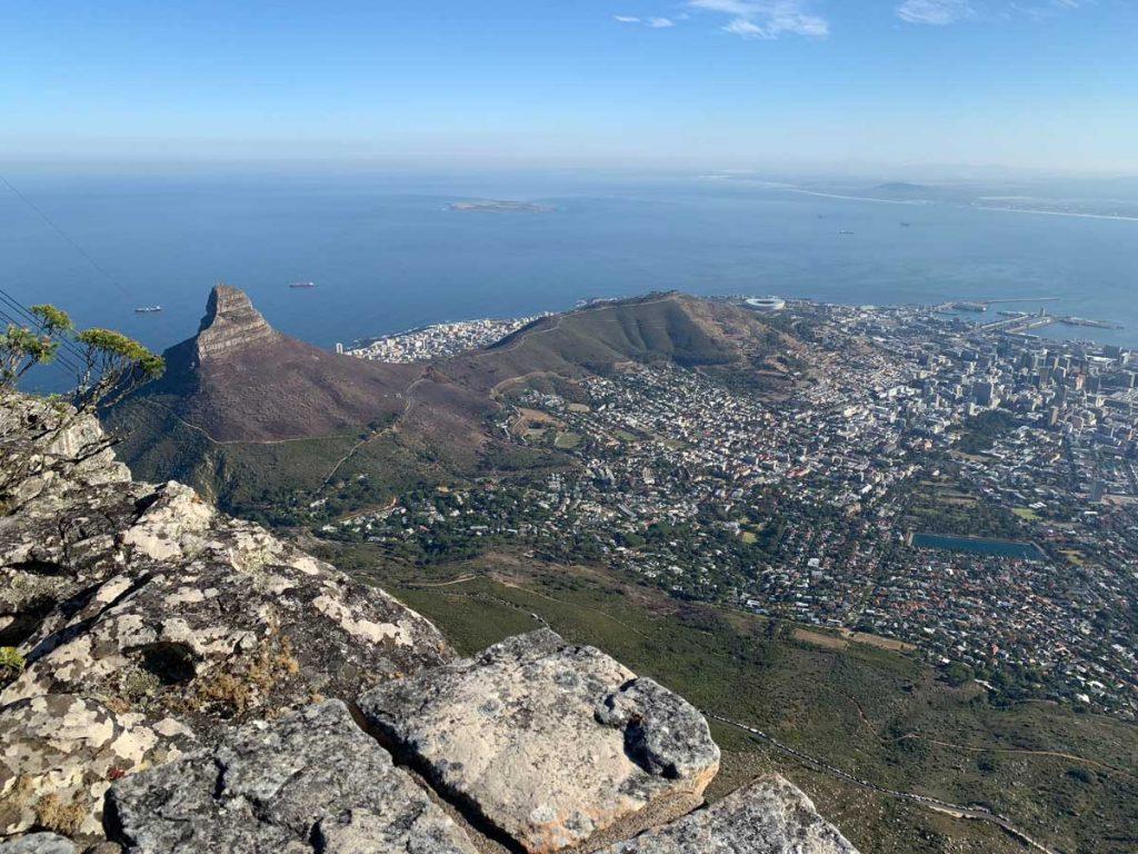 Blick vom Tafelberg Kapstadt Sehenswürdigkeiten www.gindeslebens.com