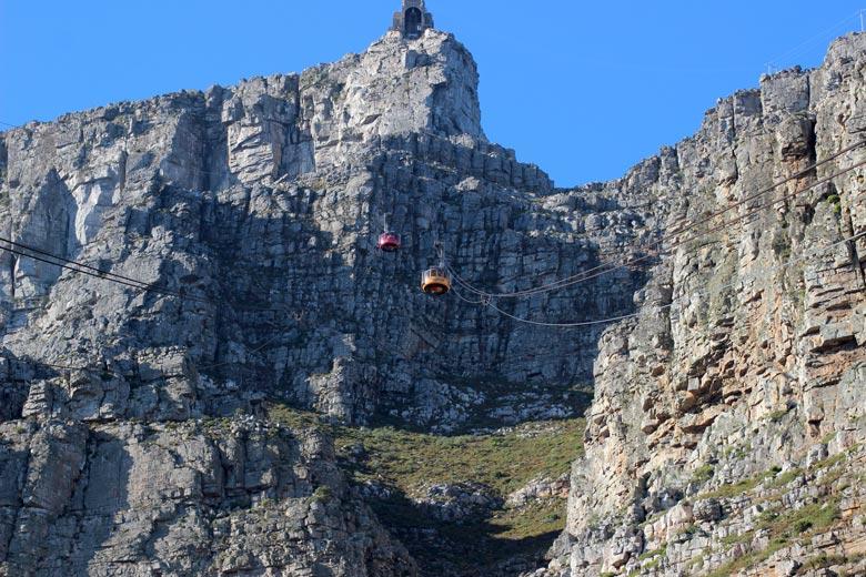 Seilbahn auf den Tafelberg Südafrika www.gindeslebens.com