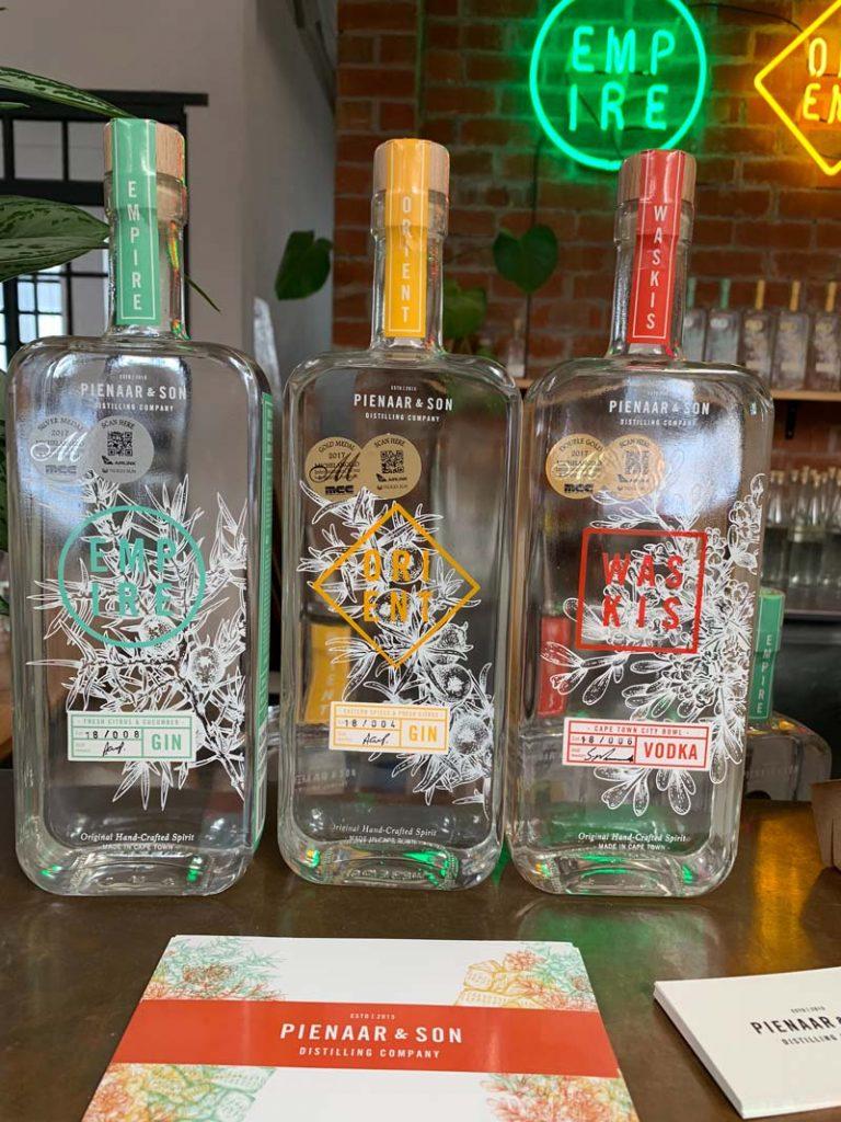 Gin und Vodka Pienaar & Son