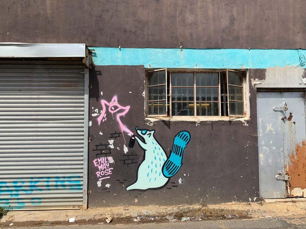 Emily May Rose Mural Streetart Woodstock Südafrika