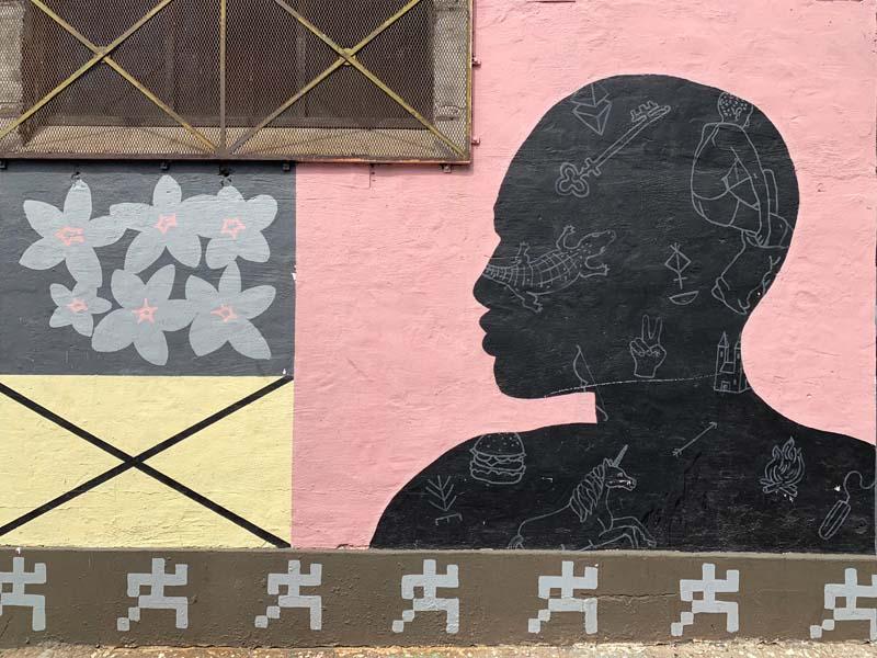 Perk_up and Nana Mural Streetart Woodstock Südafrika