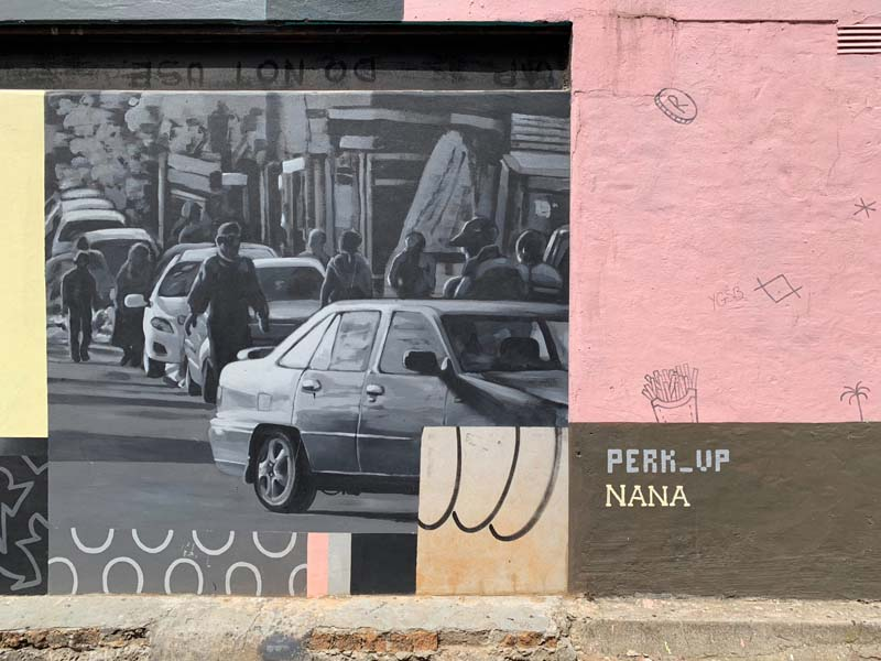 Perk_up and Nana Mural Streetart Woodstock Südafrika