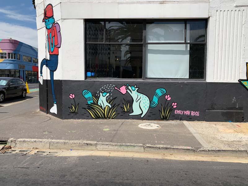 Emily May Rose Mural Streetart Südafrika