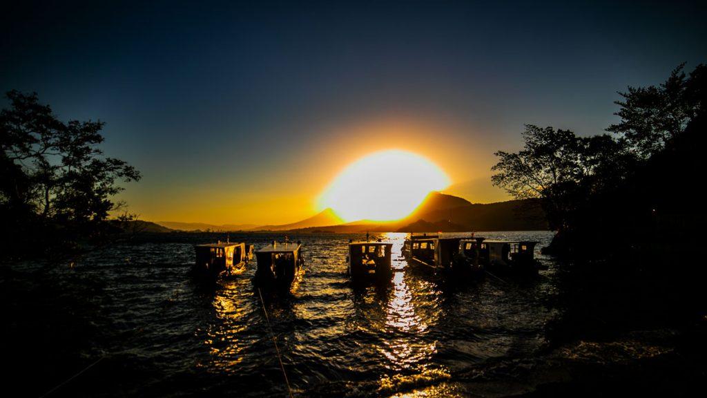 Sonnenuntergang Lembeh Resort Sulawesi