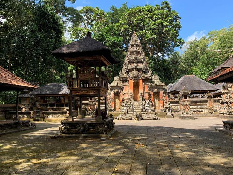 Tempel Monkey Forest Ubud Bali Indonesien