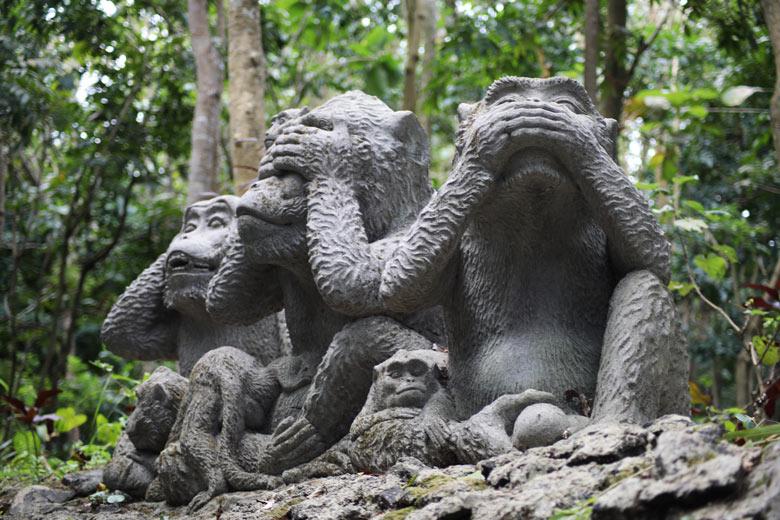 Monkey Forest Ubud Bali Indonesien