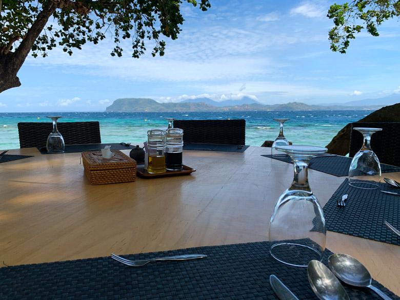 Restaurant und Essen Murex Dive Resort Bangka Sulawesi Indonesien