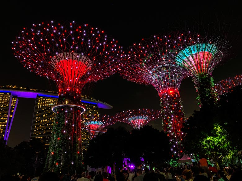 Super Tree Garden Rhapsody Lightshow Singapur Highlights