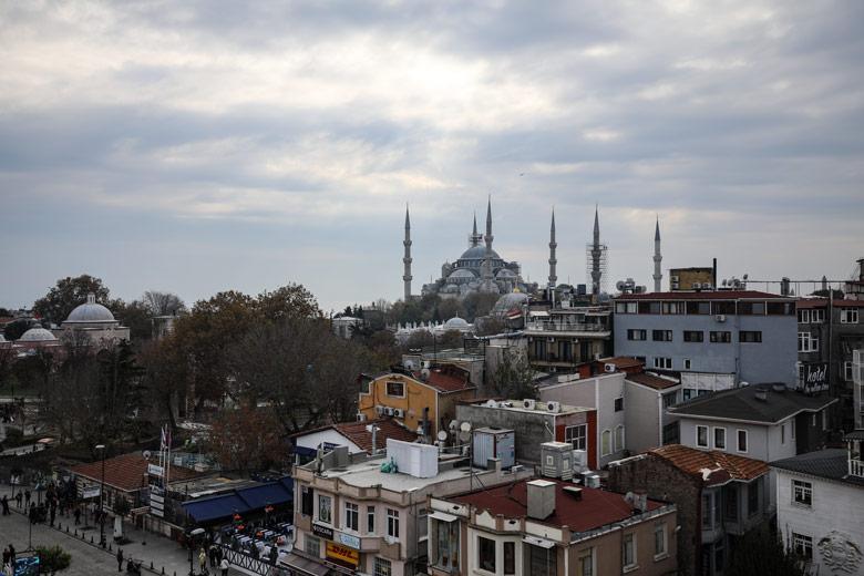 Ausblick auf die Blaue Moschee Restaurant Cihannuma Istanbul
