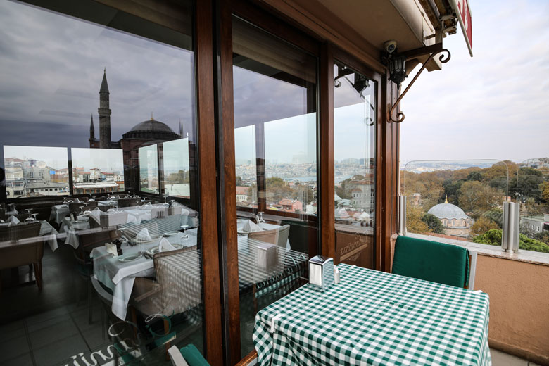 Ausblick Restaurant Cihannuma Istanbul
