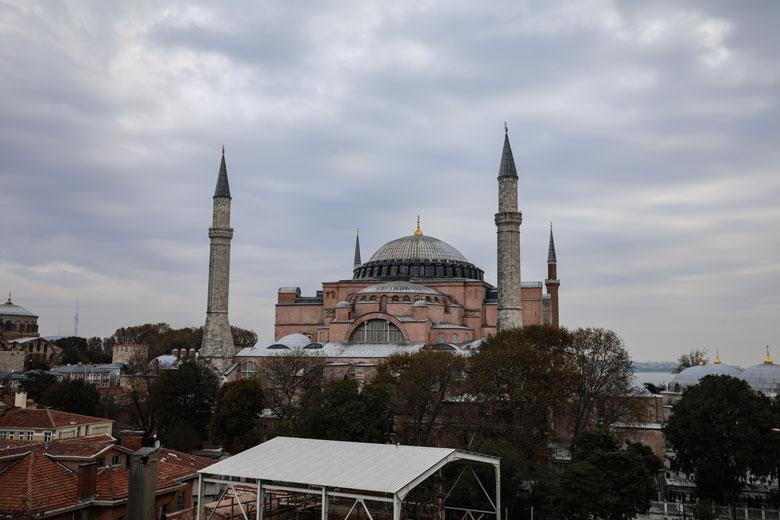 Ausblick auf die Hagia Sofia Restaurant Cihannuma Istanbul