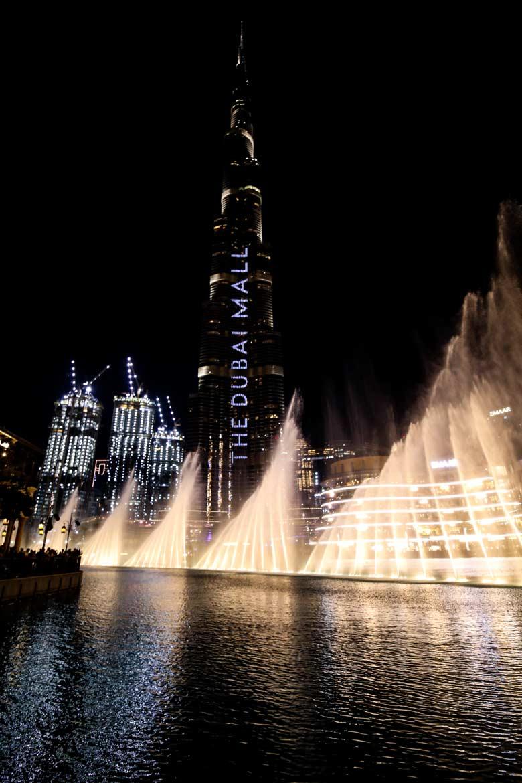 Dubai Sehenswürdigkeiten Show Burj Khalifa