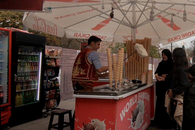 Eisverkäufer Istanbul