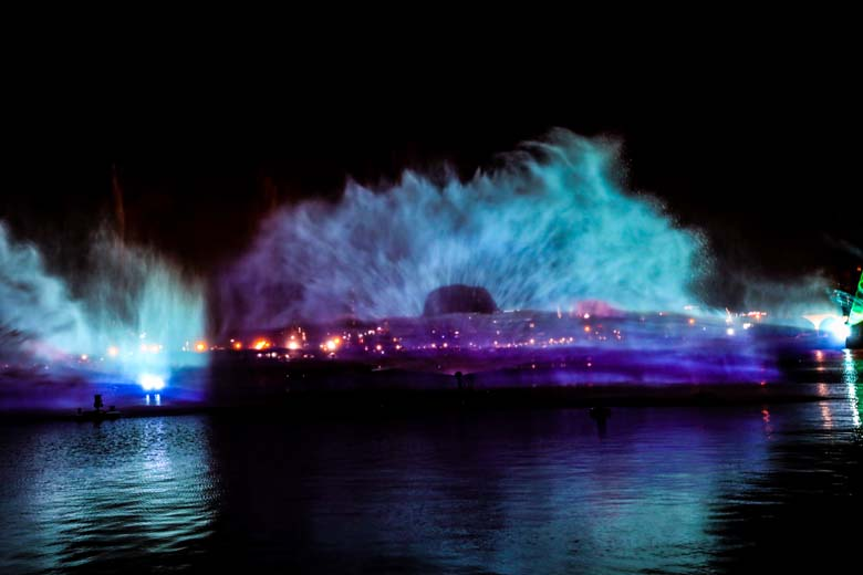 Show Imagine Festival City Sehenswürdigkeiten Dubai