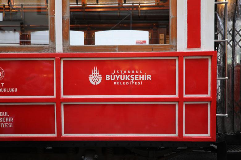 Nostalgische Straßenbahn Istanbul Sehenswürdigkeiten